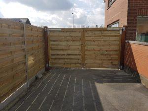 Extra poort achterkant